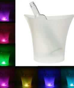 Balde de Gelo para Bebidas c/LED de 7 Cores