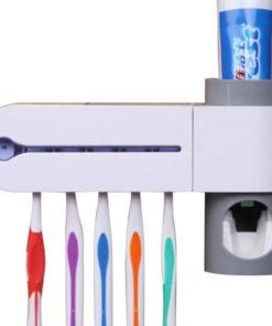 Dispensador Automático de Pasta de Dentes   Esterilizador de Escovas