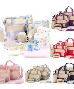 Kit de Bolsas de Bebê para Maternidade com 5 peças