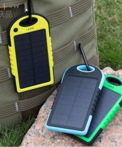 Carregador de Celular Solar USB Portátil com Power Bank 5000mAh