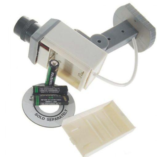 Câmera de Segurança Falsa c/ Luz LED e Detector de Movimento