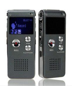 Gravador de Áudio Portátil 8GB com Display LCD e Equalizador (Grava   120h)