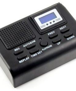 Gravador Telefônico Espião c/ função MP3 e relógio LCD