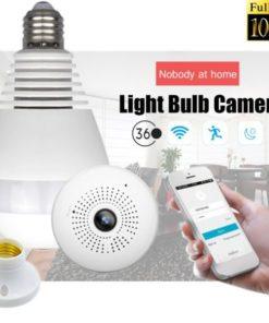 Lâmpada Espiã Wifi 360º FullHD