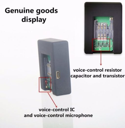 Mini Escuta Ambiente GSM Espiã c/Detector de Voz