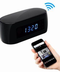 Relógio Espião Wireless com Visão Noturna, Detecção de Movimento Full HD