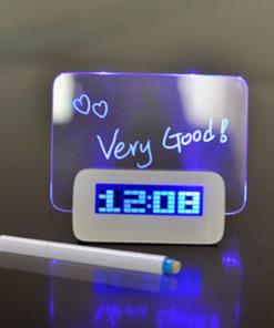 Relógio Despertador com Painel de Mensagem LED